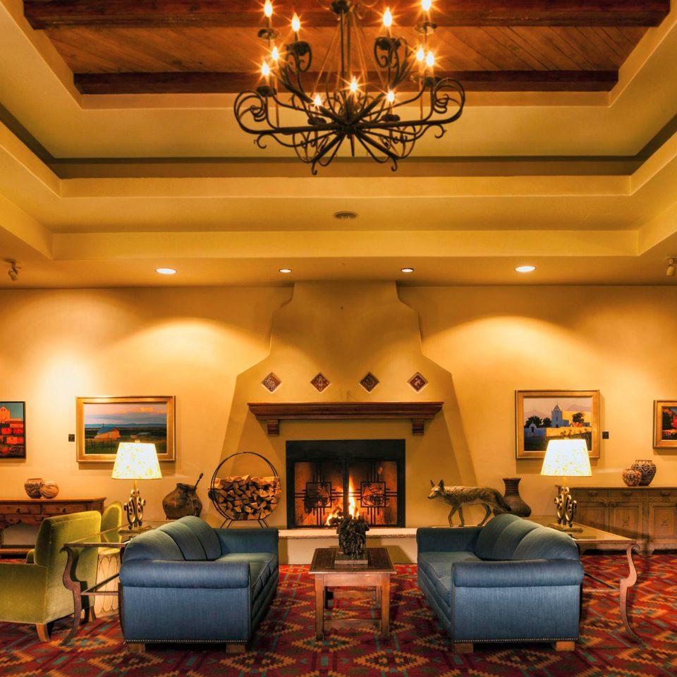 Fireplace Historic Lounge Rustic Lobby living room home recreation room function hall ballroom