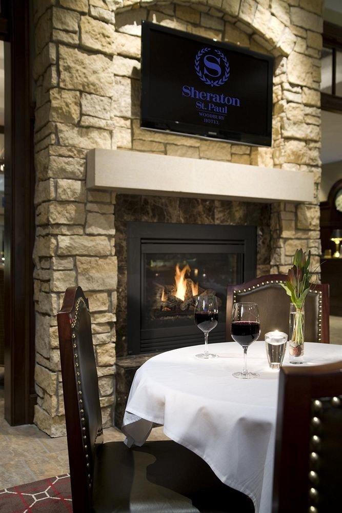 Fireplace restaurant lighting home living room stone