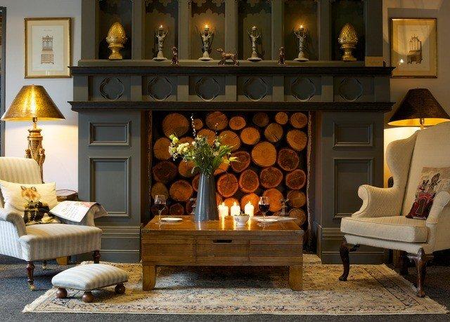 living room home lighting Fireplace