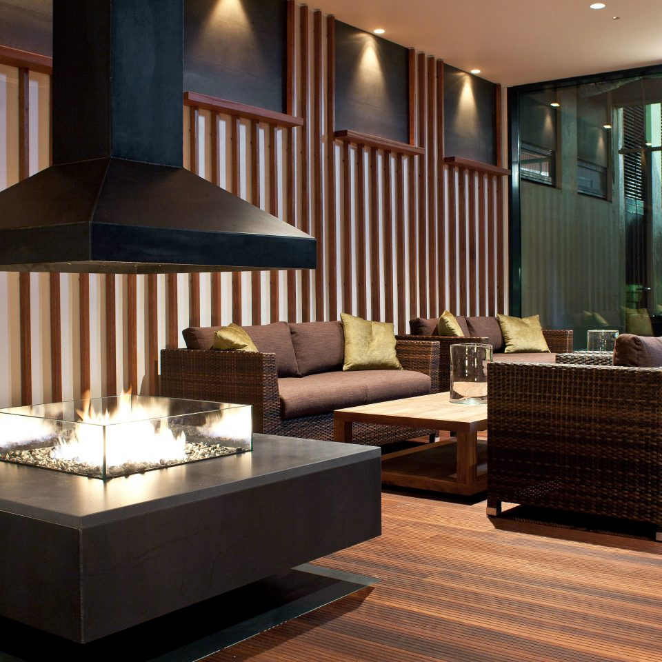 Fireplace Hotels Iceland Modern Lobby living room lighting