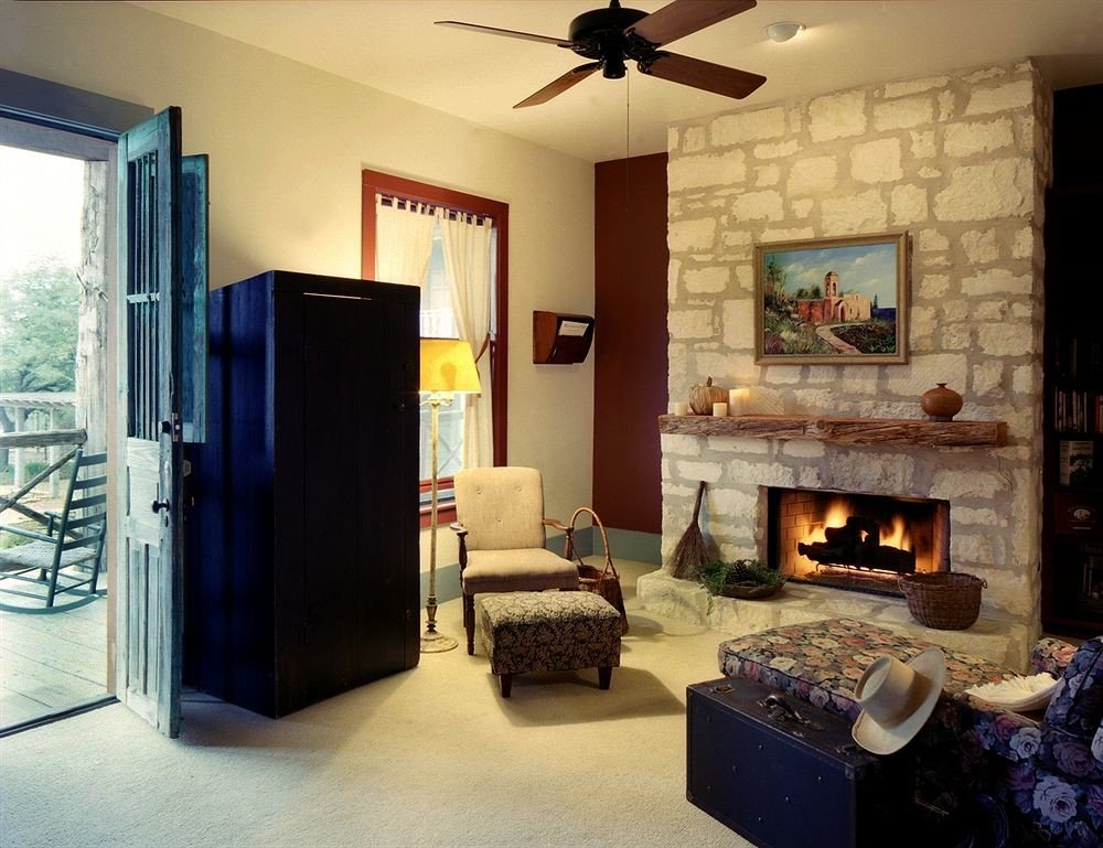 Fireplace Inn Rustic property living room home house cottage hearth Villa stone