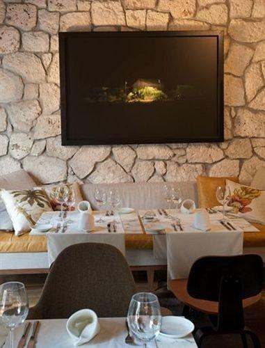 living room Fireplace stone restaurant