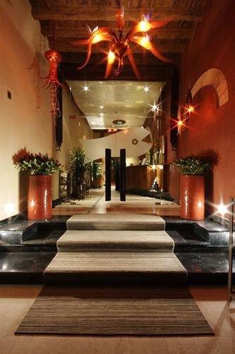 Lobby building restaurant lighting hacienda living room Fireplace