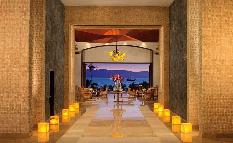 building Lobby stone lighting restaurant Fireplace