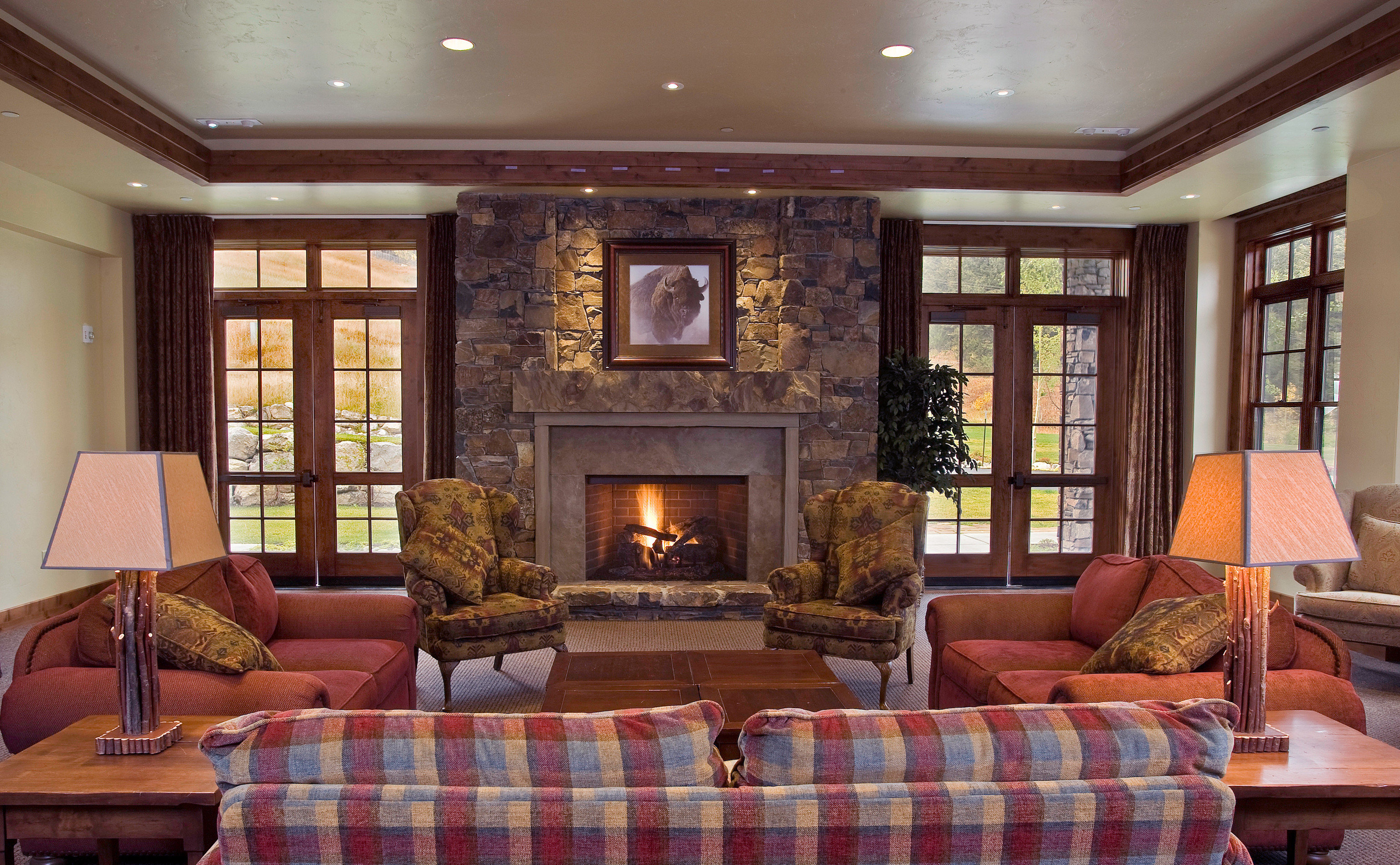 sofa Fireplace living room fire property home hardwood mansion condominium Lobby