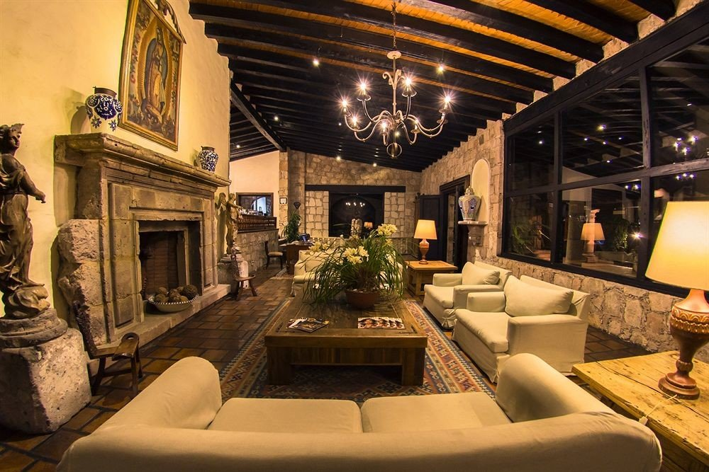 Lobby living room Fireplace home mansion
