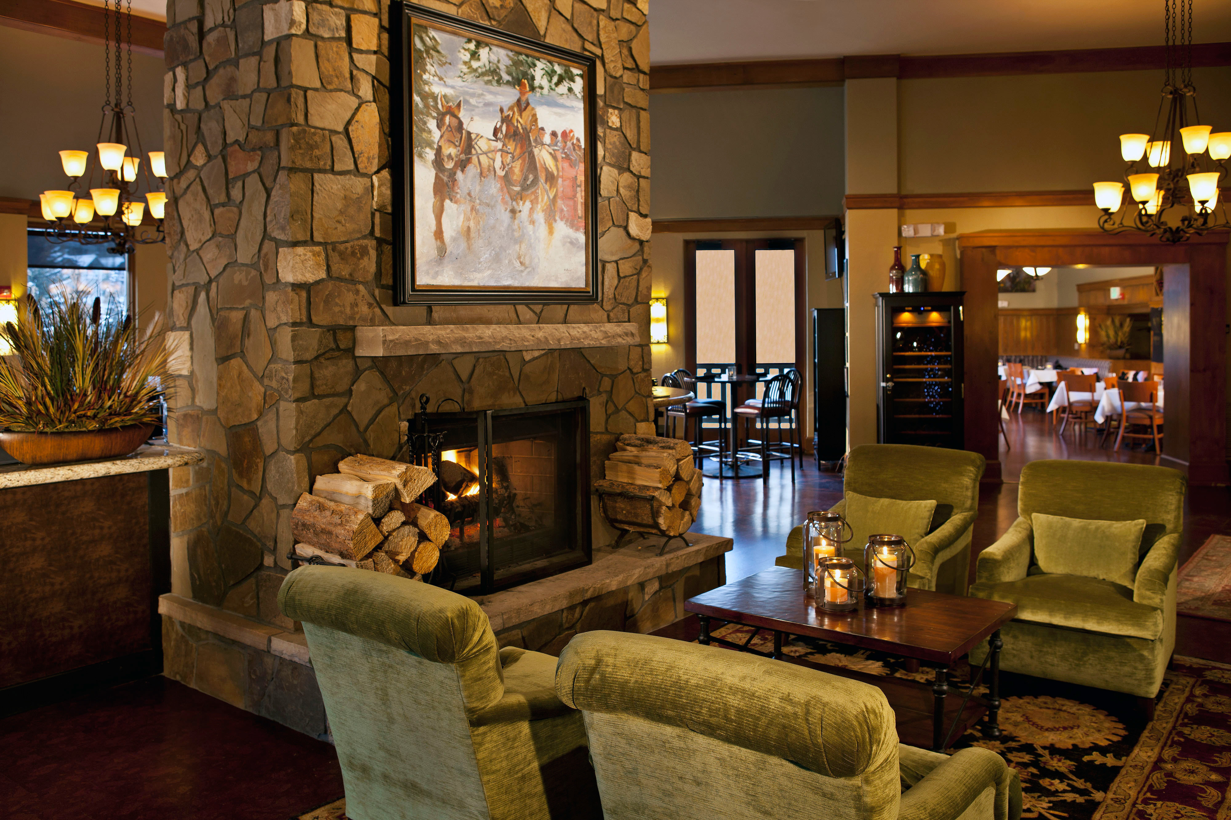 Fireplace Lodge Lounge Romantic Ski living room property home cottage mansion Lobby farmhouse
