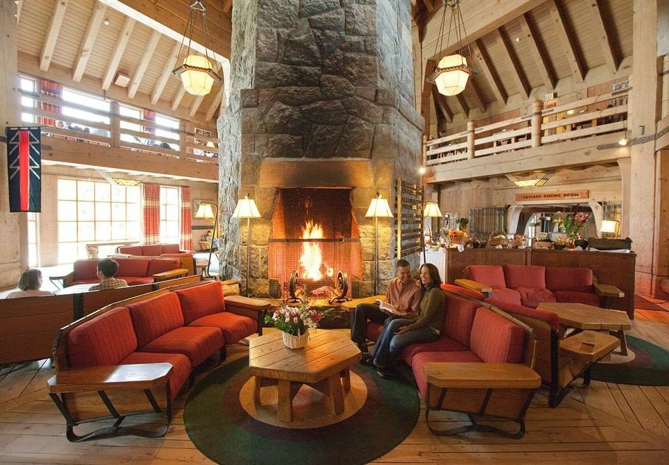 Fireplace Lodge Lounge Lobby property chair building living room mansion