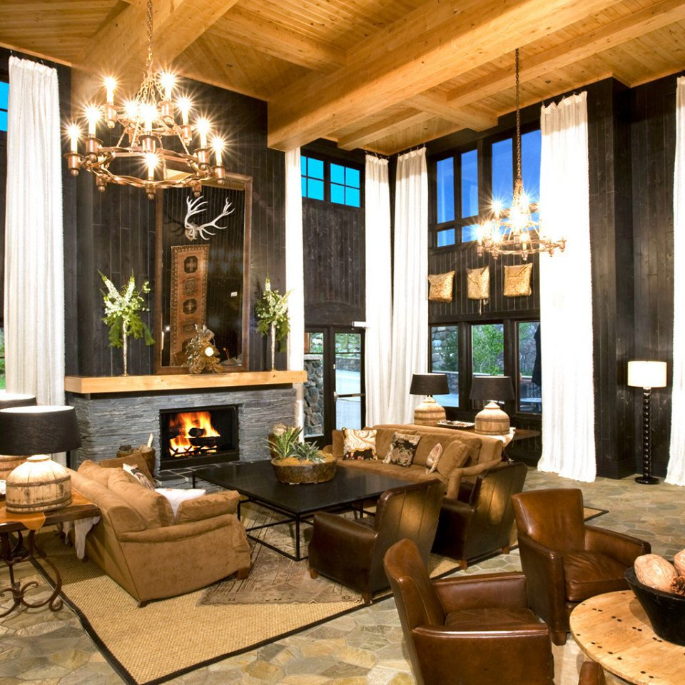 Fireplace Lobby Lodge Lounge Outdoor Activities Romantic Ski Trip Ideas property living room home Resort restaurant mansion condominium Villa