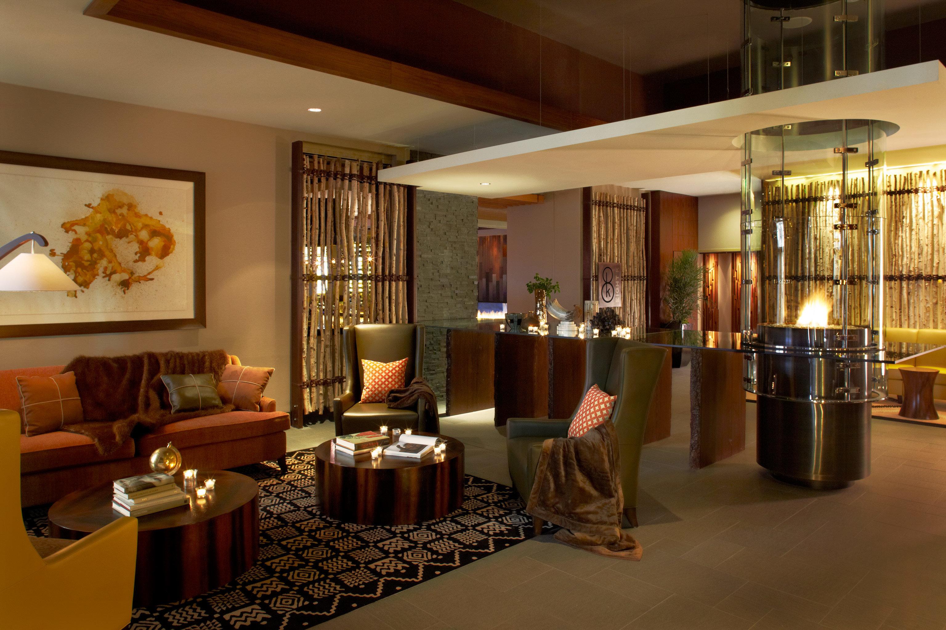 Fireplace Lobby Lounge Luxury property living room home condominium Resort restaurant Suite