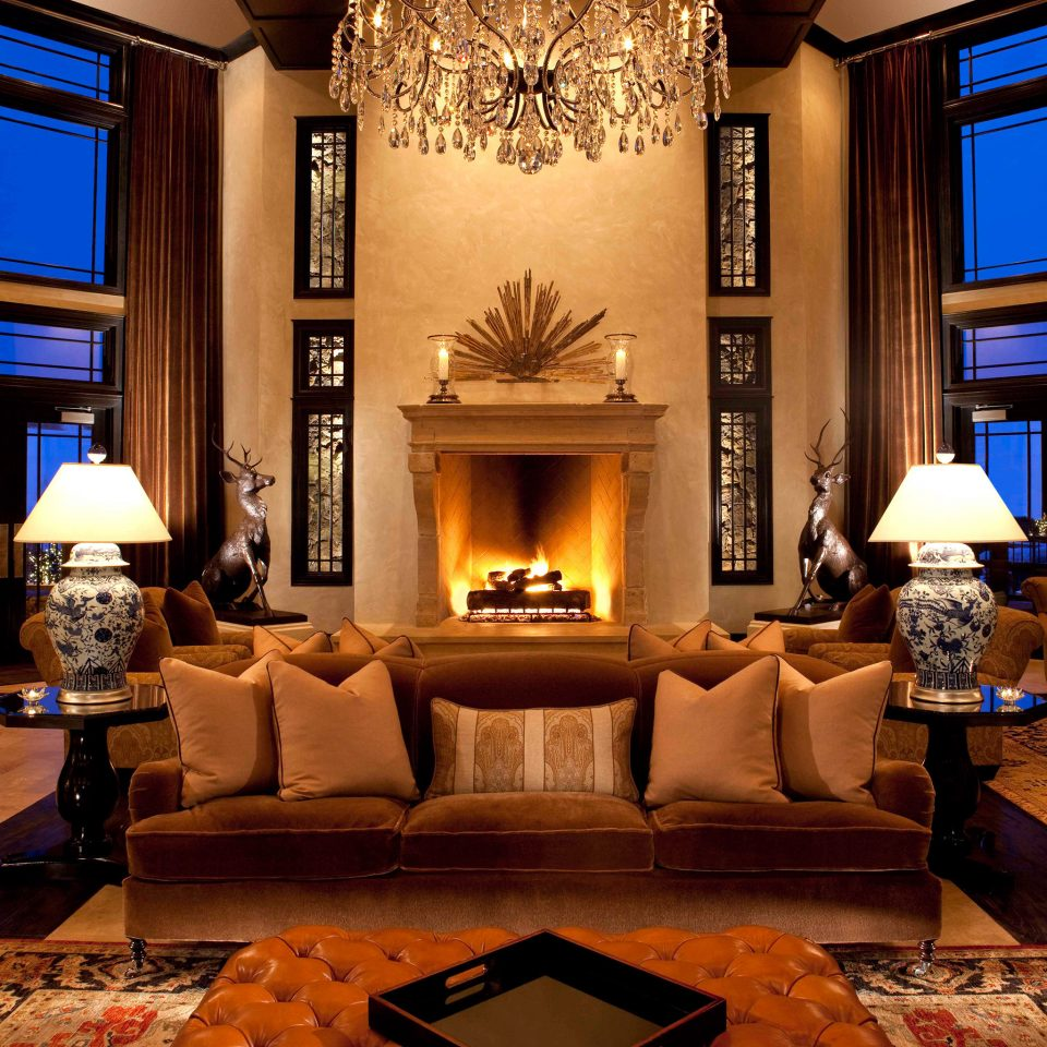 Fireplace Lounge Luxury sofa living room Lobby home lighting mansion