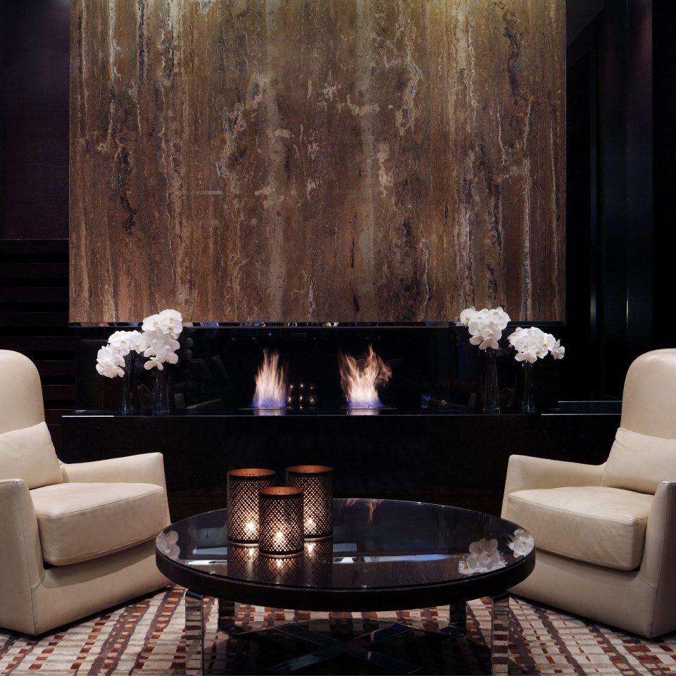 Fireplace Lounge Resort living room lighting black Lobby dining table