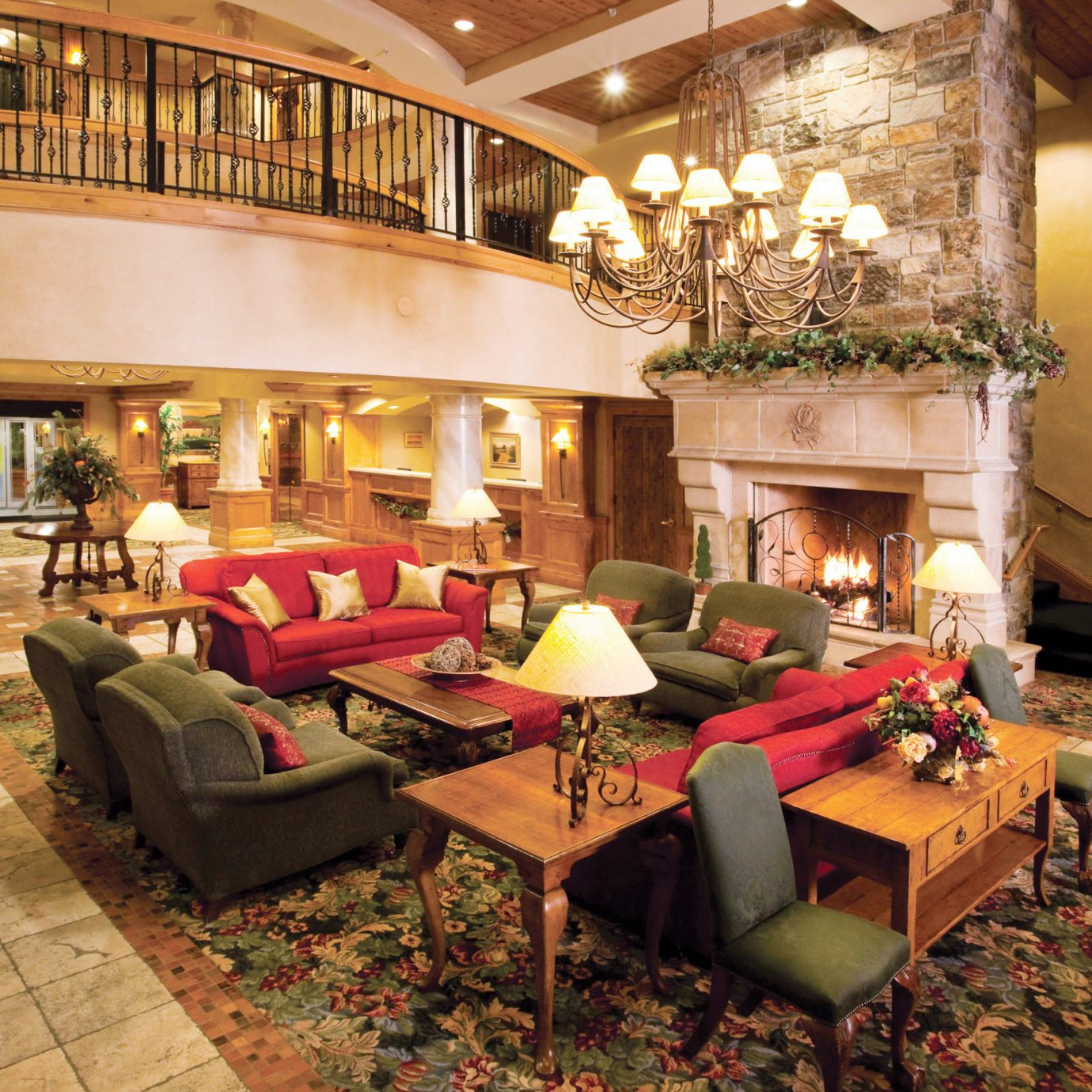 Fireplace Lounge Resort Rustic property living room home mansion Villa Lobby cottage hacienda recreation room