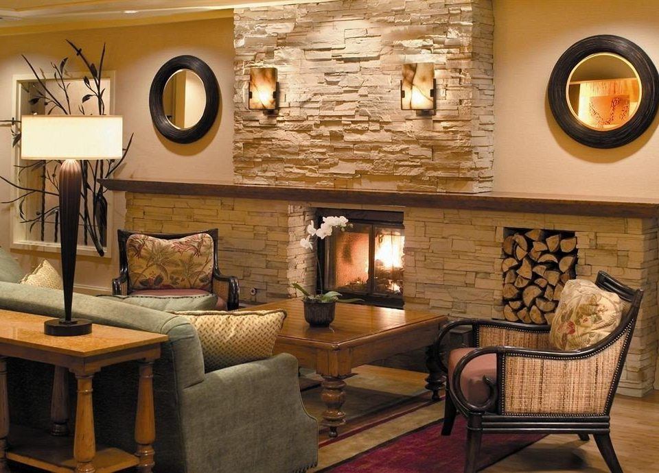 Fireplace Lobby Lounge living room property home cottage Suite