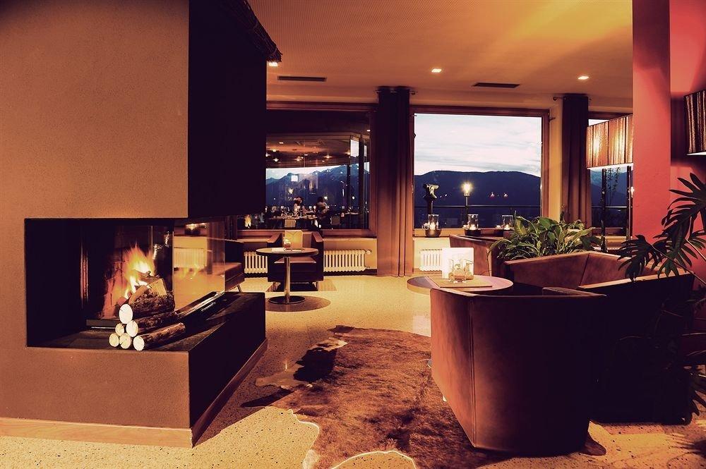 Fireplace home living room Lobby hacienda Villa