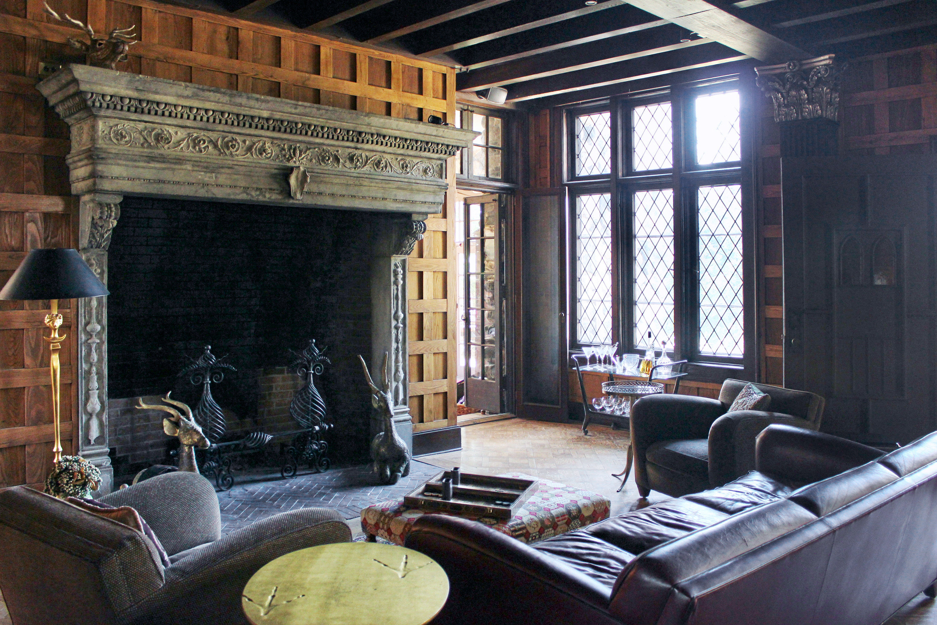 Fireplace Lodge property living room house home mansion stone