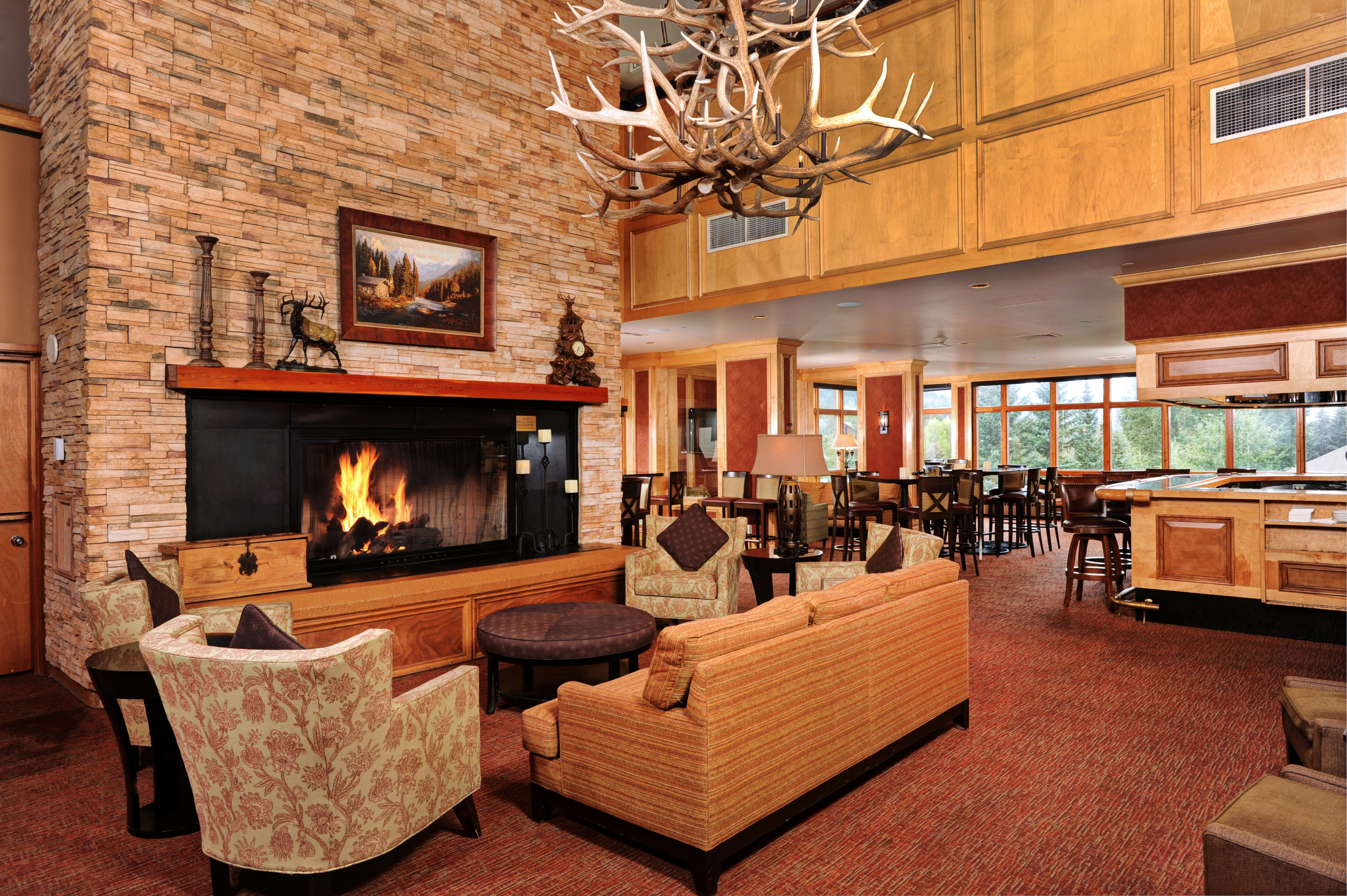 Fireplace Lodge Lounge Rustic property living room fire home recreation room cottage
