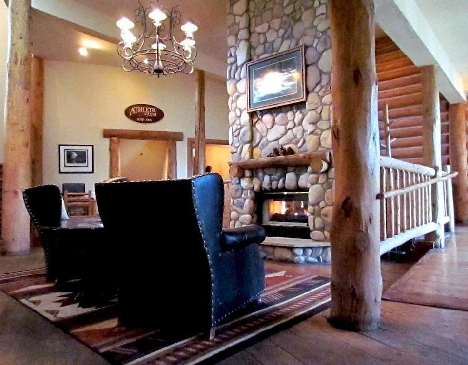 Fireplace Lodge Lounge property living room home cottage hardwood Villa