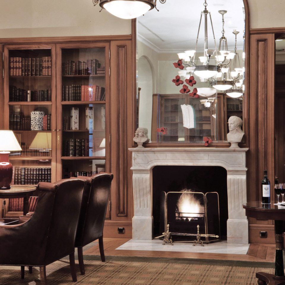 Fireplace Lounge Luxury chair living room home cabinetry