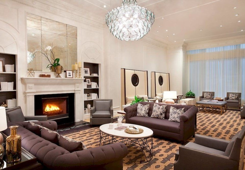 Lounge Luxury sofa living room Fireplace property fire home condominium Suite cottage mansion leather