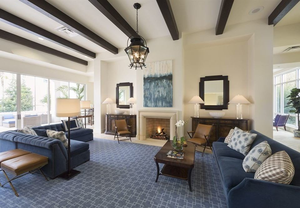 Fireplace Lounge Luxury living room property condominium home Villa cottage mansion Suite