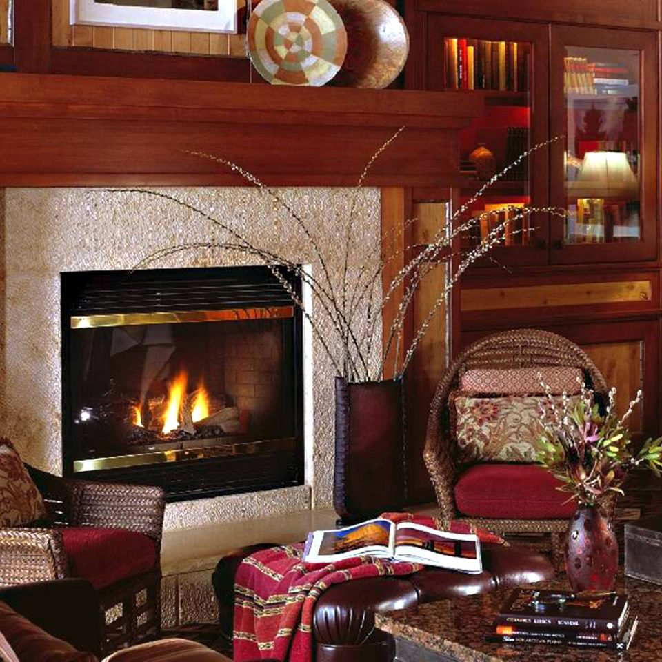 Fireplace Lounge Resort Rustic living room property home fire cottage hearth stone