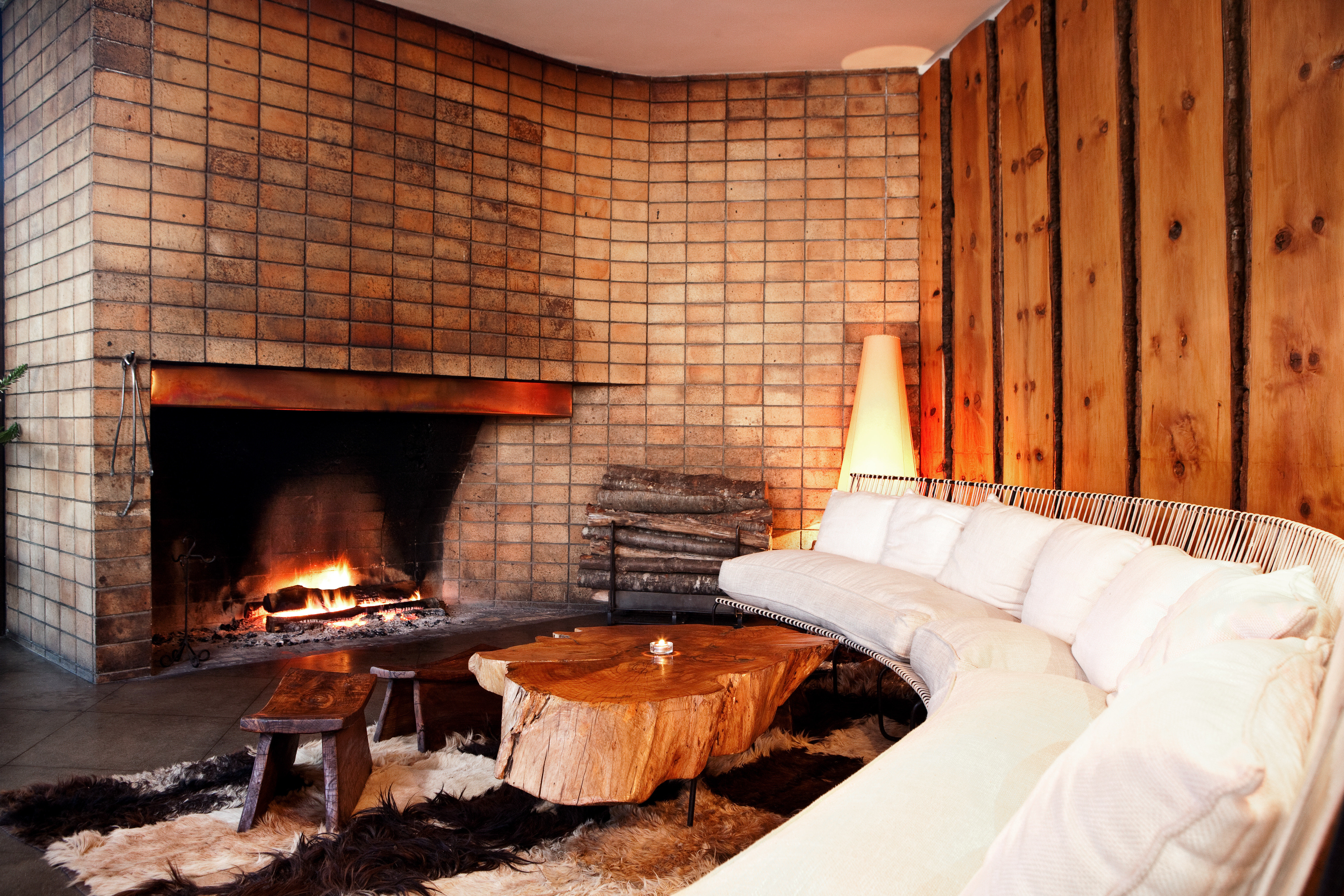 Fireplace Luxury Modern Resort Scenic views building fire hearth stone brick Nature cottage grill