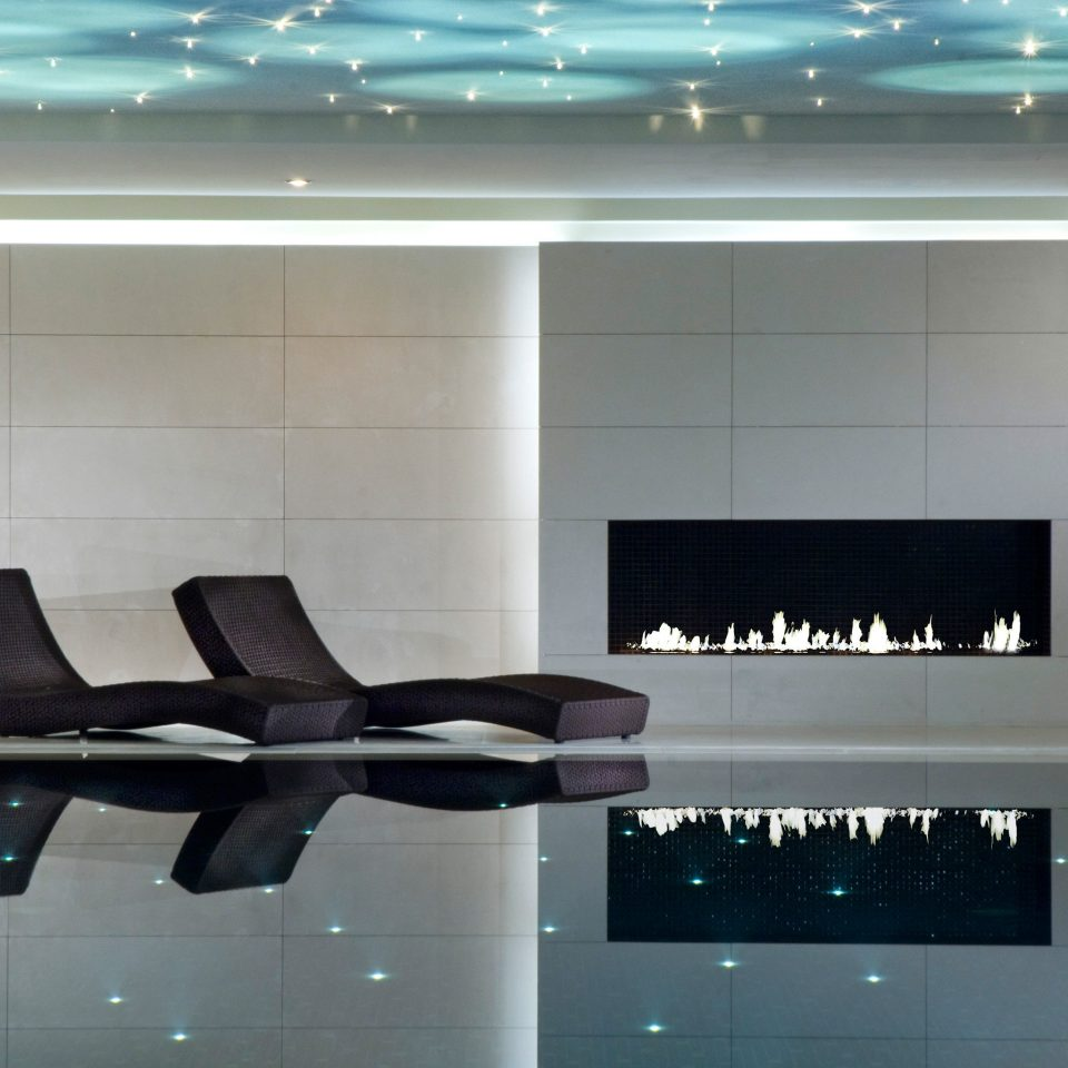 Fireplace Luxury Pool Resort living room lighting