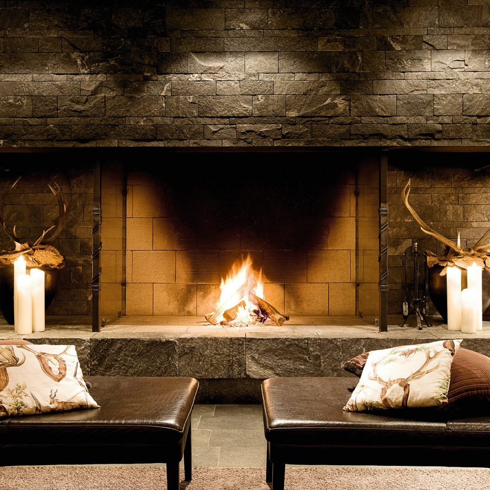 Fireplace Luxury Romantic Rustic fire living room hearth home lighting stone