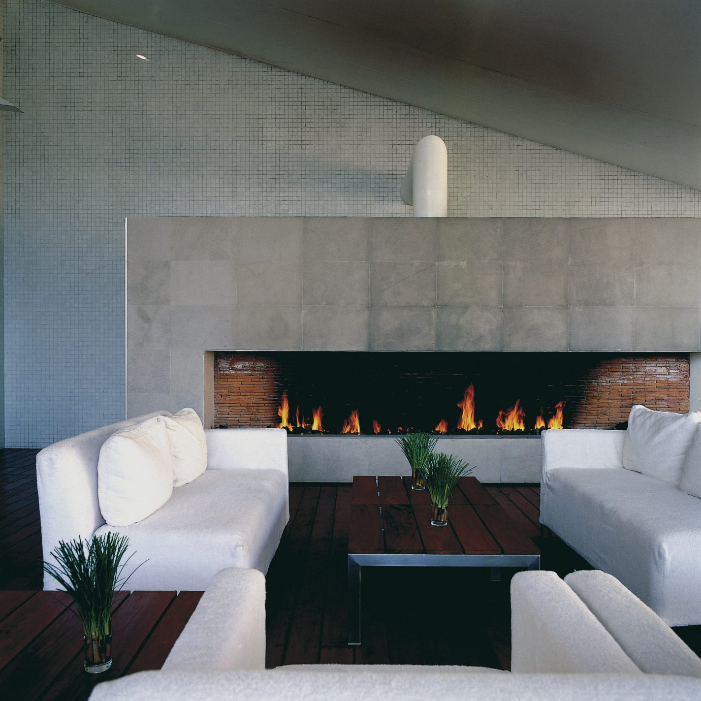sofa living room property hearth Fireplace white lighting home Modern