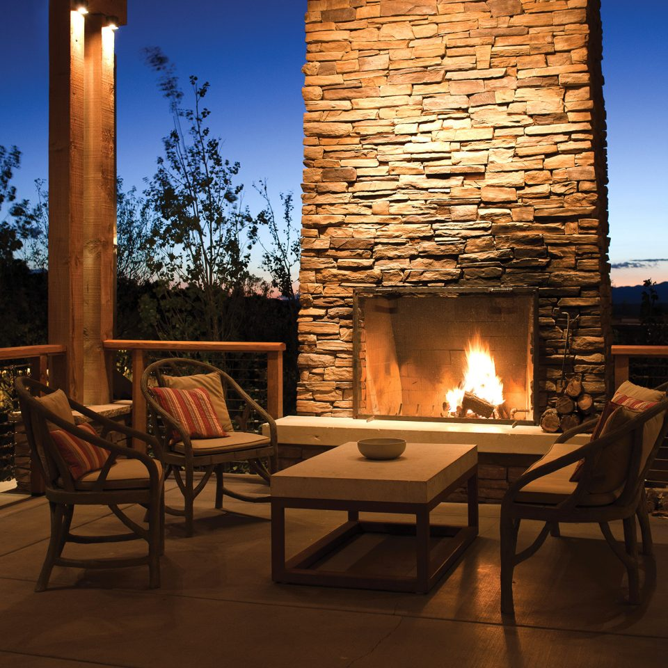 sky Fireplace hearth building home living room Patio backyard outdoor structure cuisine cottage