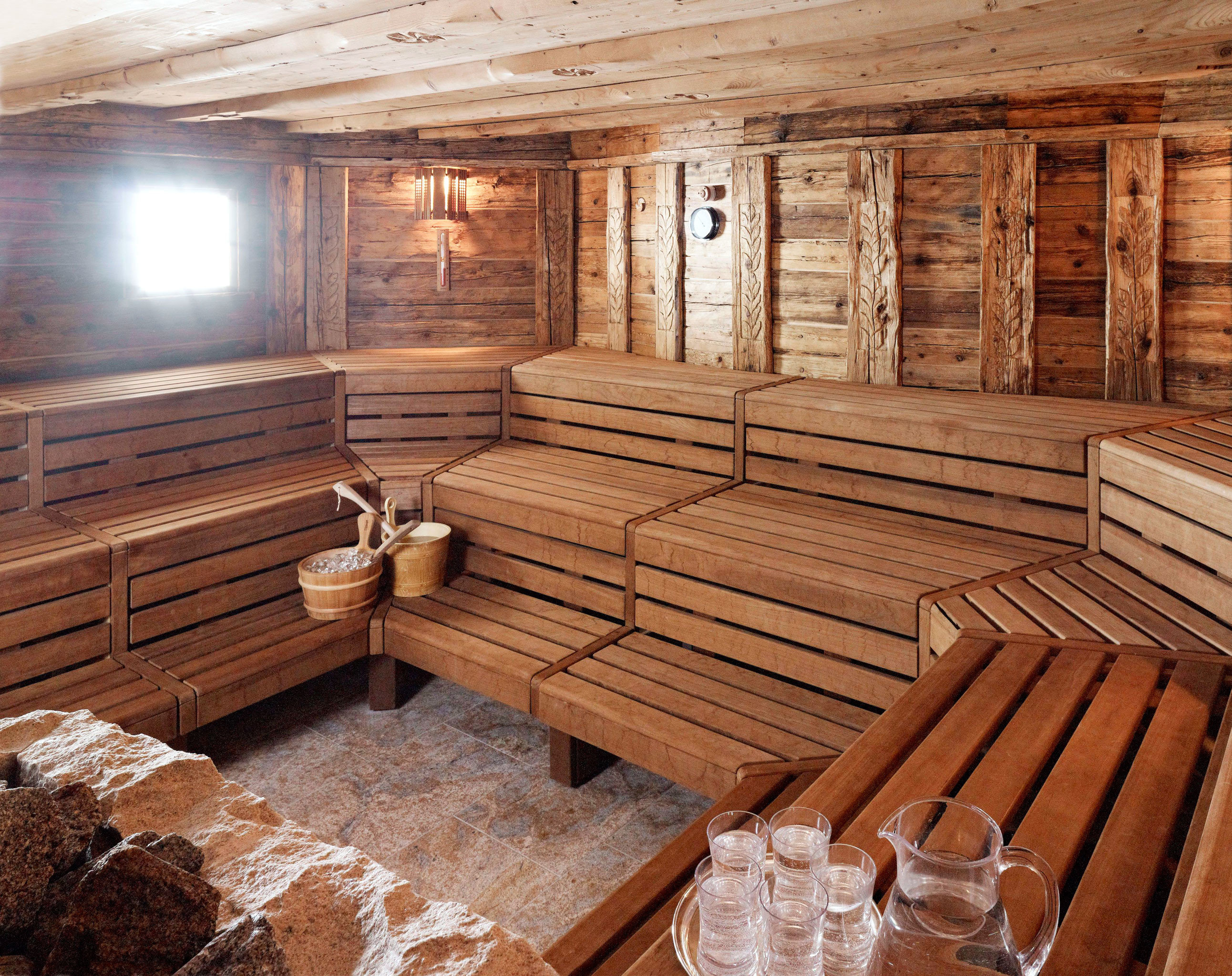 Spa Wellness wooden man made object building log cabin Fireplace swimming pool cottage sauna