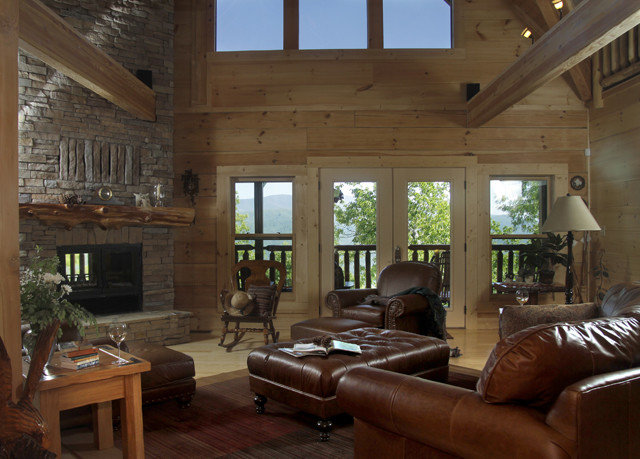 sofa property living room house home Fireplace cottage Villa log cabin mansion farmhouse leather