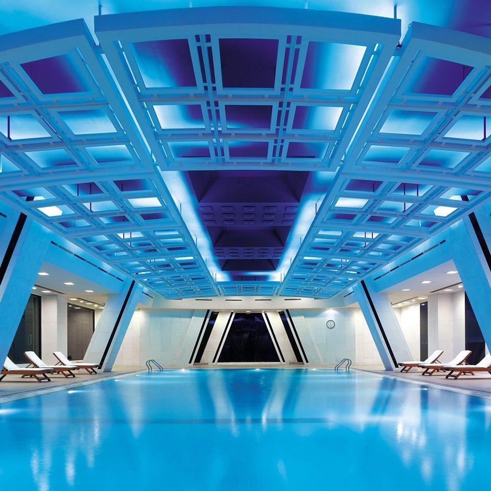 Fitness Luxury Pool Sport Wellness swimming pool blue leisure centre convention center headquarters auditorium