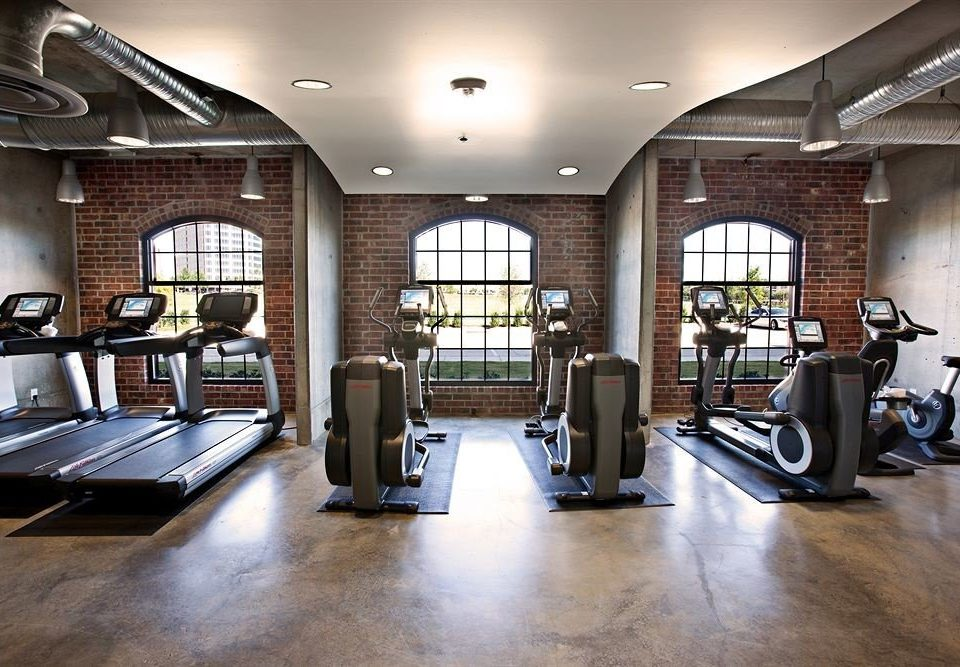 Fitness Modern structure property building gym sport venue home condominium living room cluttered