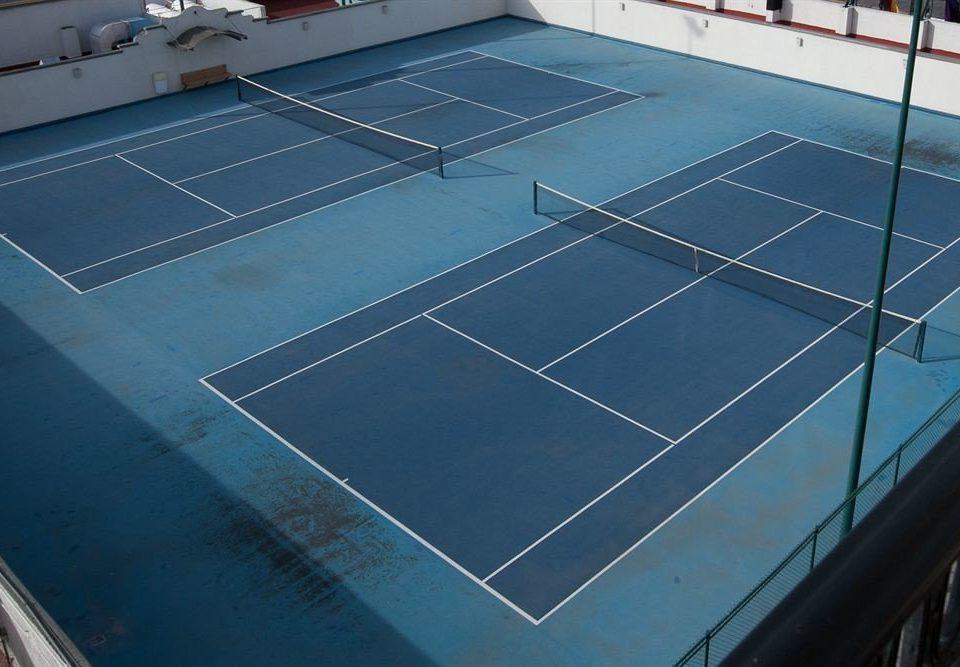 Fitness Modern Sport Tropical structure blue sport venue tennis court net tennis daylighting flooring