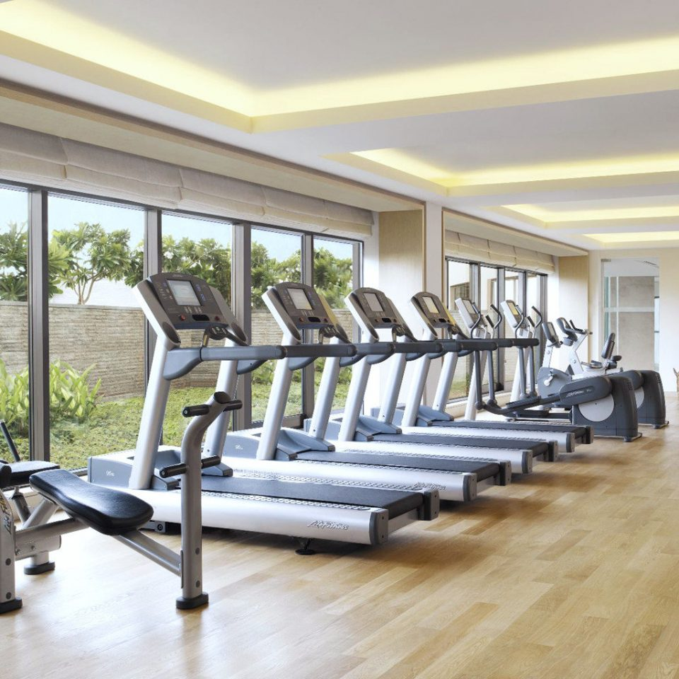 Fitness Scenic views structure building property gym sport venue condominium hardwood home wooden living room flooring