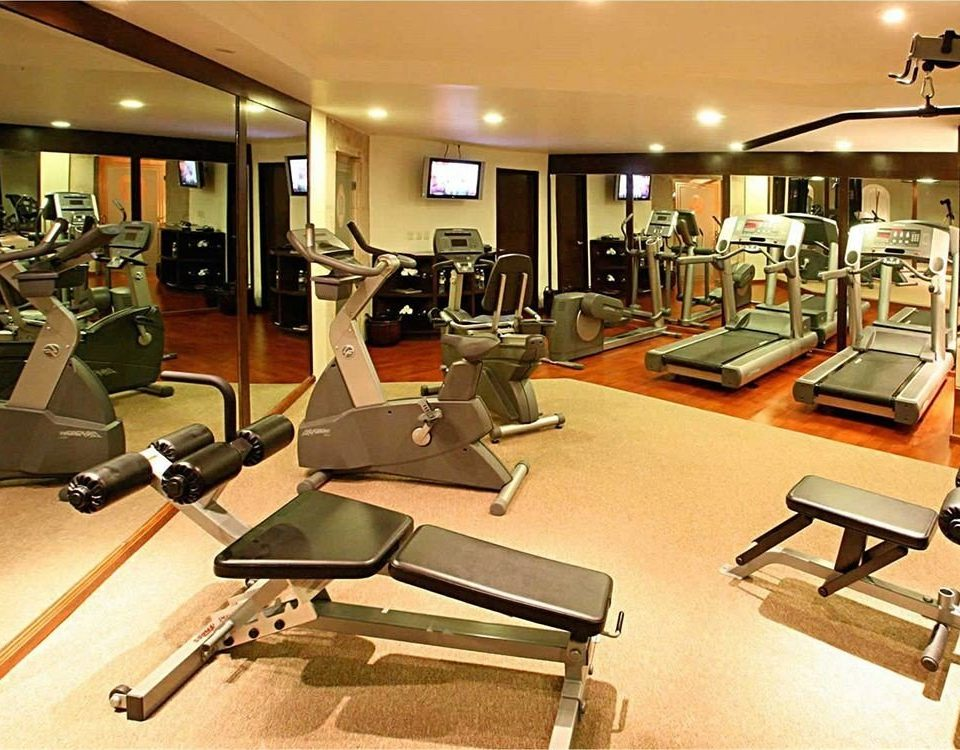 Fitness Sport Wellness structure gym sport venue desk leisure office physical fitness condominium