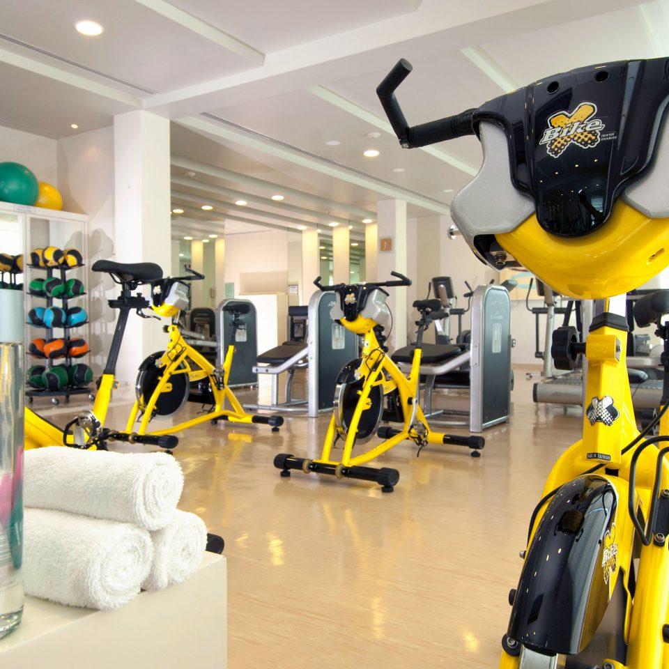 Fitness Sport Wellness structure yellow machine sport venue robot toy