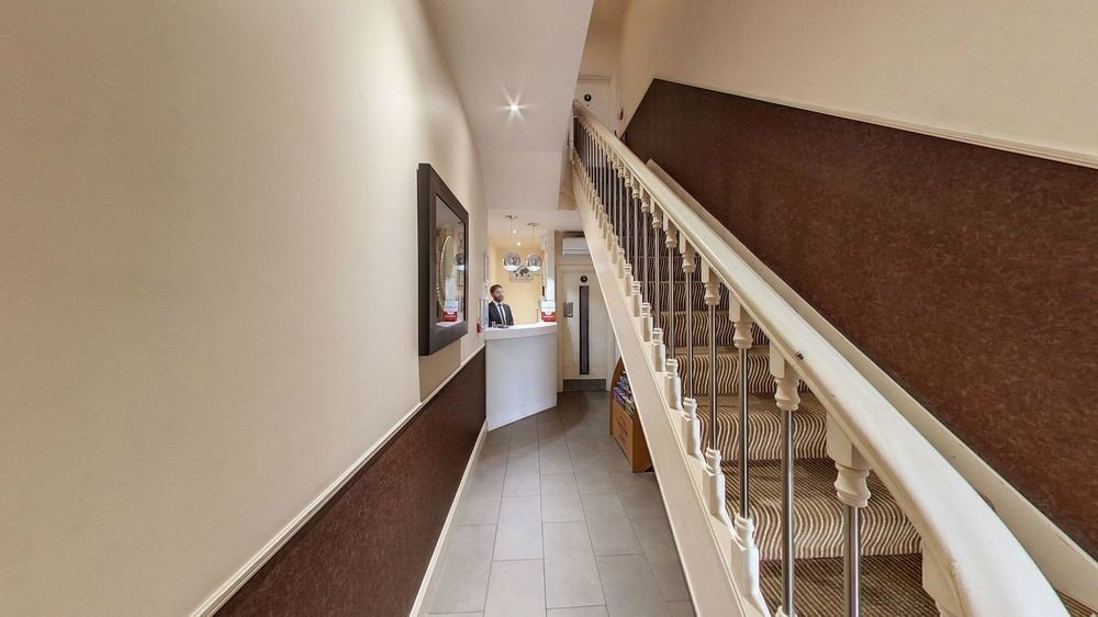 property stairs flooring hall handrail step