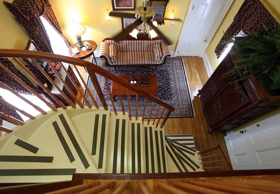 stairs wooden home living room flooring