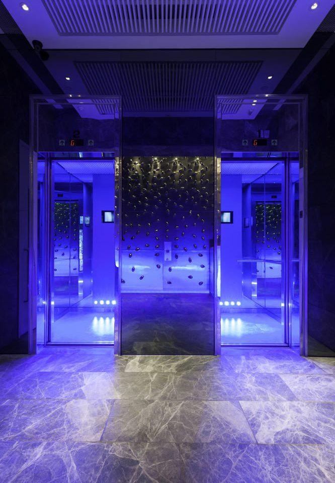 stage nightclub lighting night flooring music venue purple