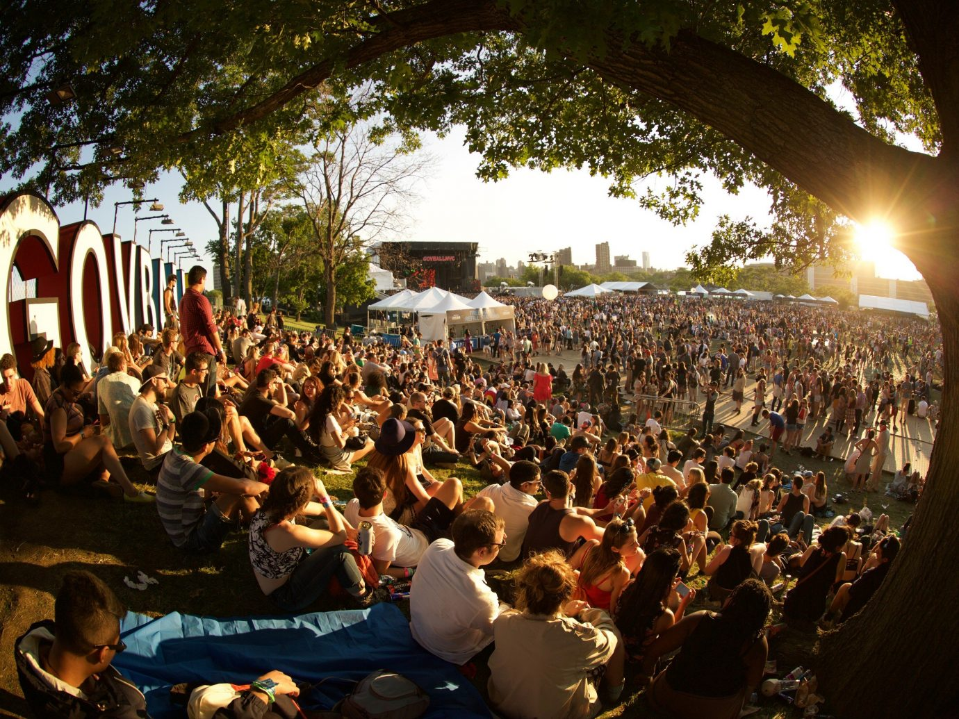 Arts + Culture tree outdoor crowd person people musician audience group festival