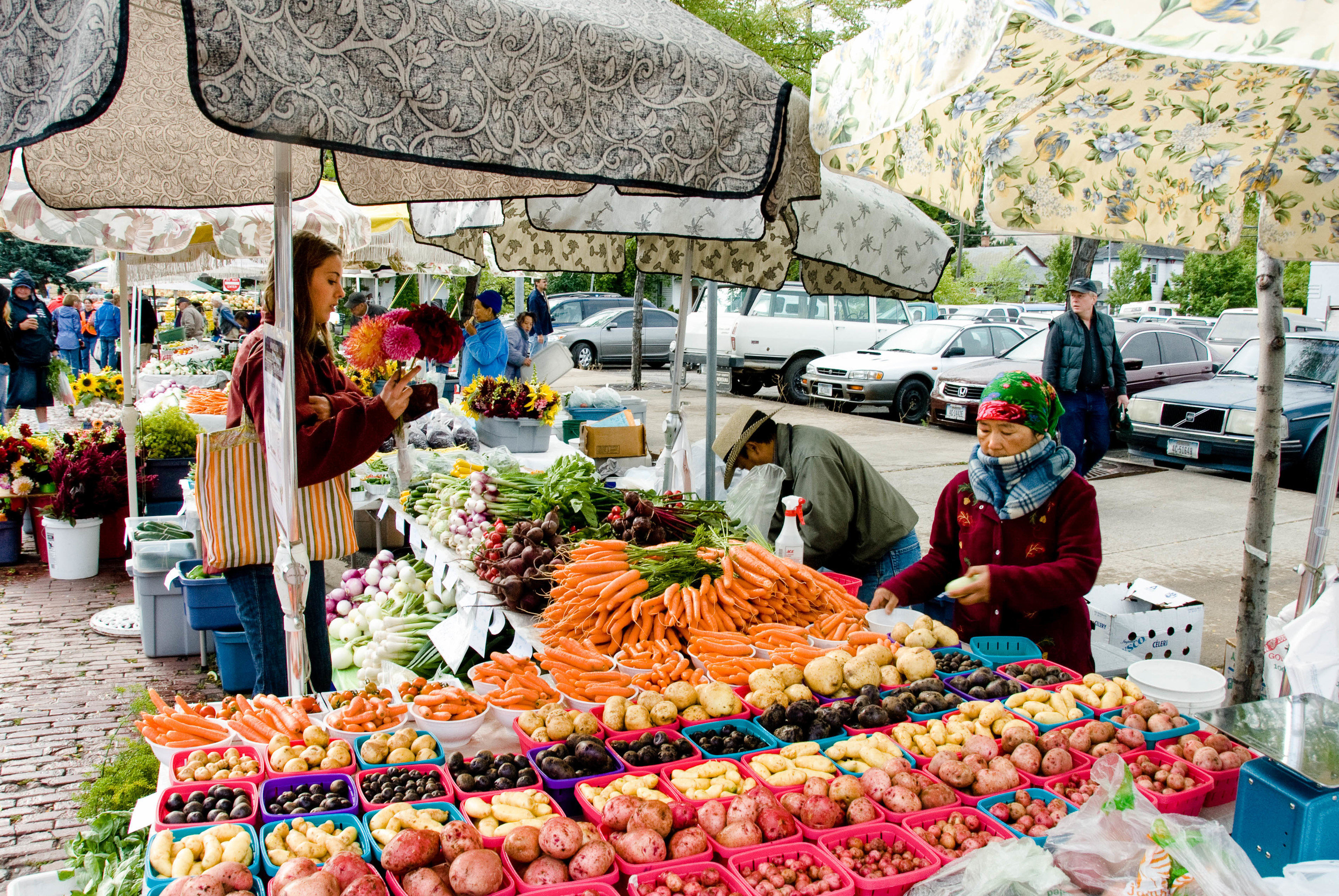 Trip Ideas marketplace market outdoor produce public space vendor stall bazaar scene food local food City fruit greengrocer vegetable brunch colorful fresh