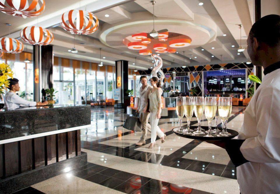 man retail restaurant food court
