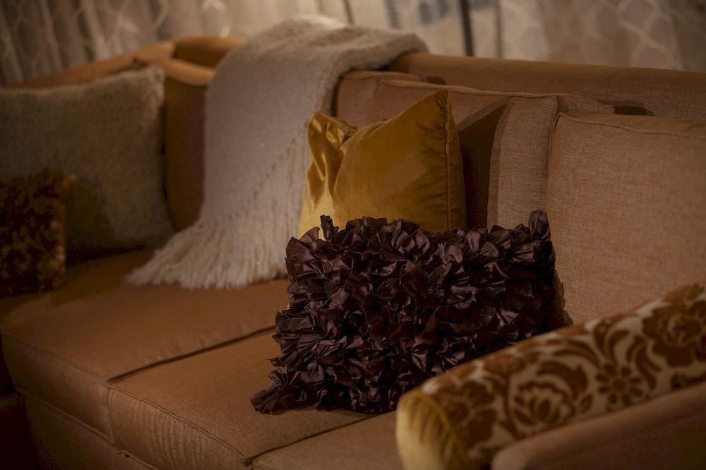 sofa pillow food tan