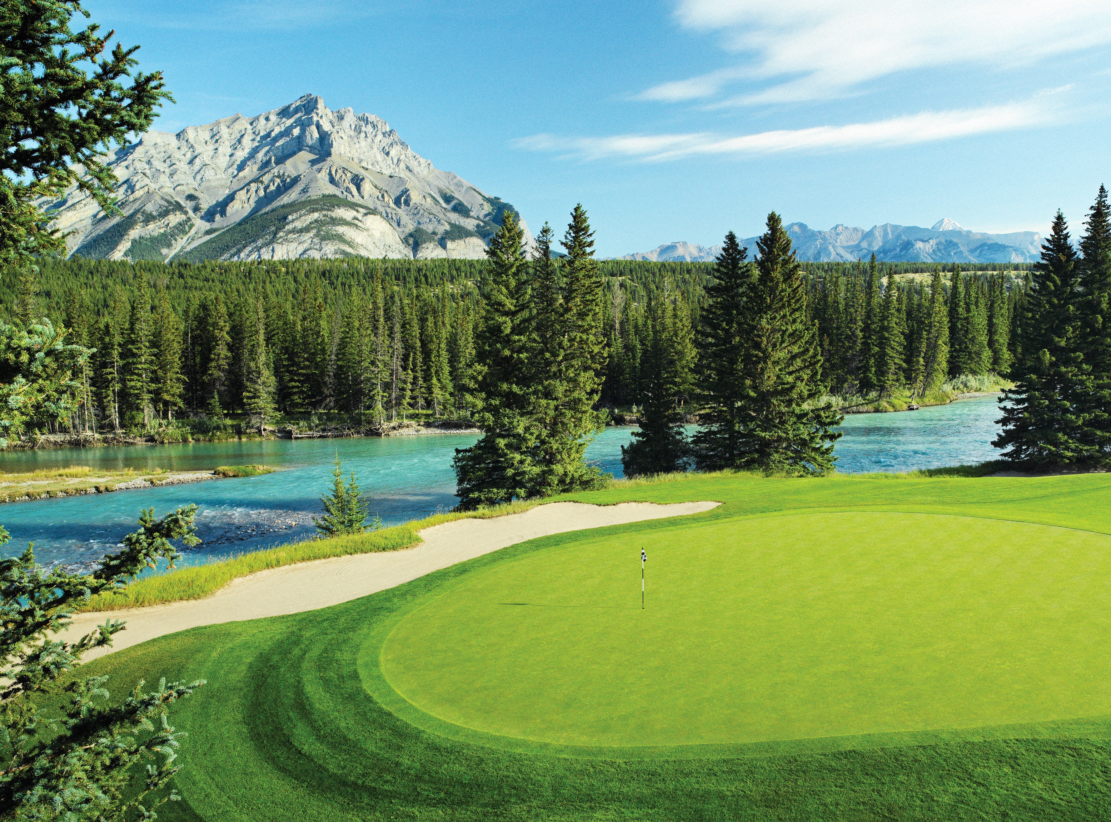 Golf Mountains Nature Outdoors Resort Scenic views Sport tree grass sky structure mountain green sport venue grassland golf course sports golf club outdoor recreation meadow recreation lush lawn grassy plant mountain range Forest hillside surrounded