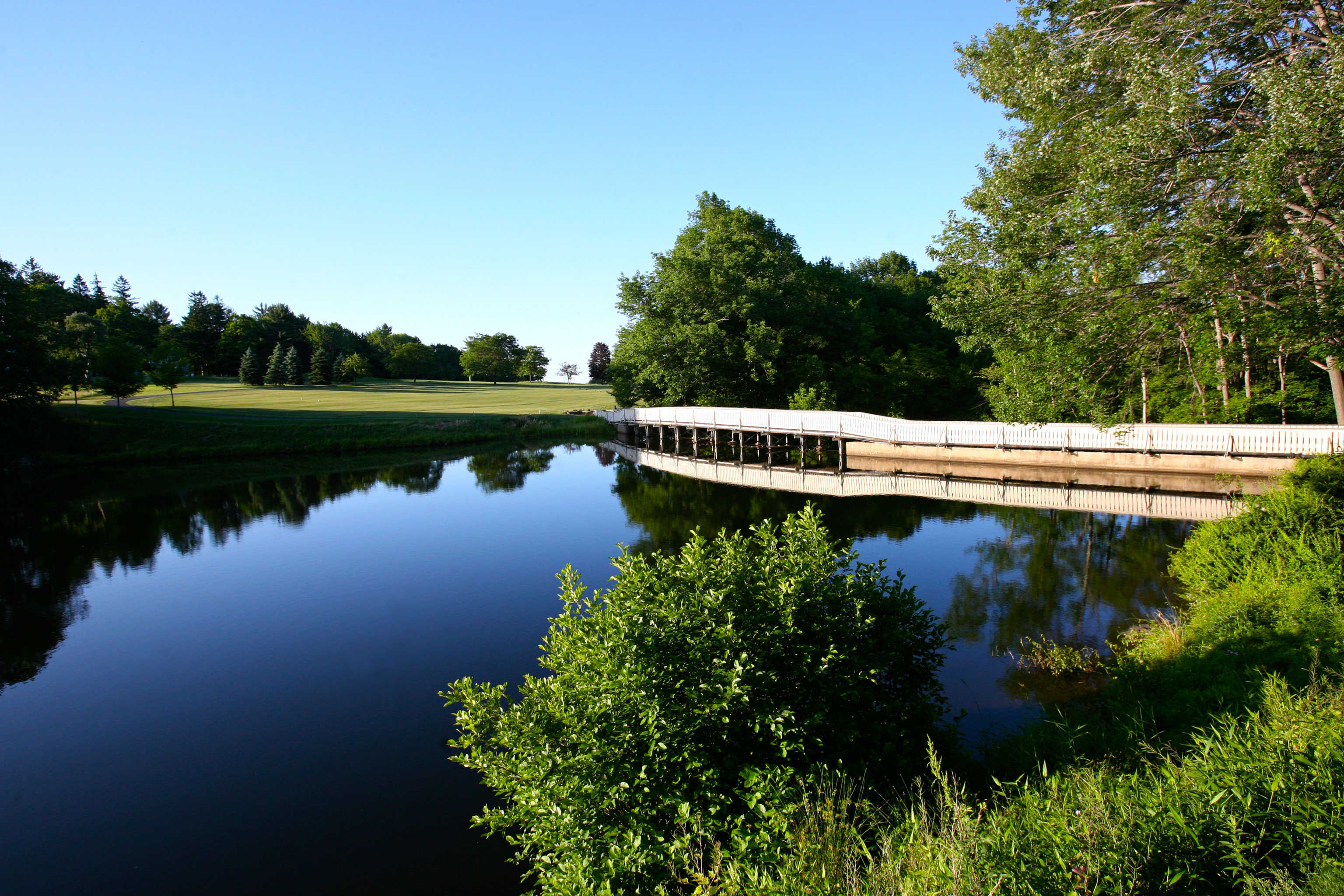 Natural wonders Nature Outdoor Activities Outdoors Scenic views tree water sky River Lake Forest reservoir reflecting pool bridge pond surrounded waterway traveling wooded bushes