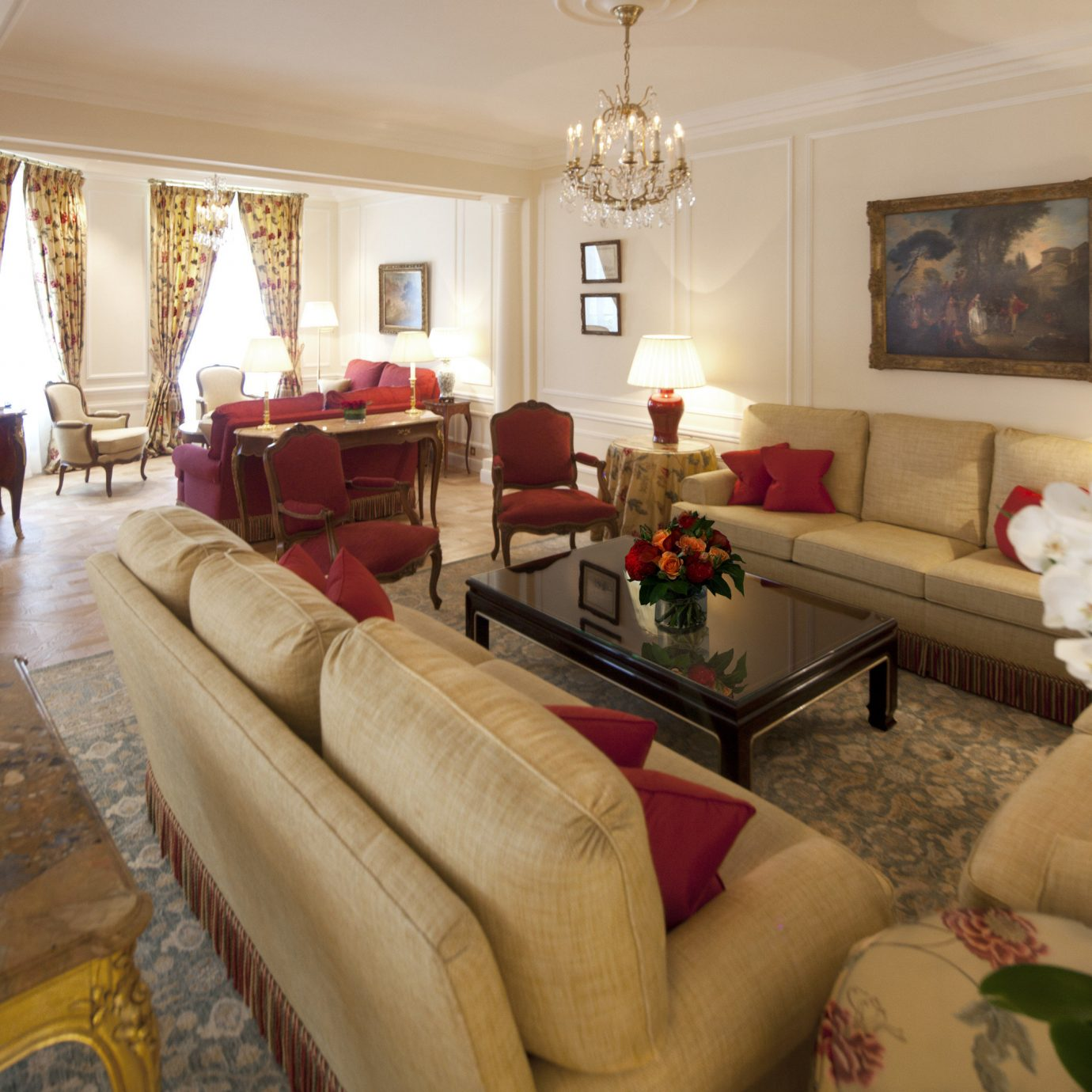 France Hotels Luxury Travel Paris sofa living room property home Suite flooring house flat