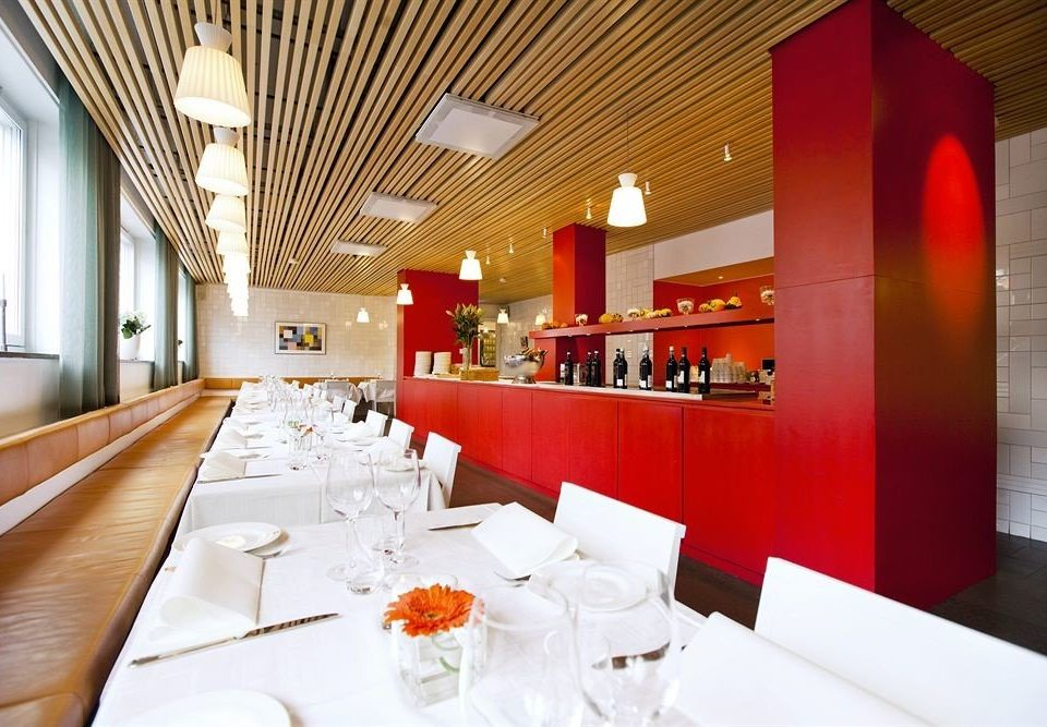 red restaurant function hall